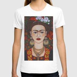 Frida with butterflies T-shirt