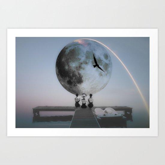 The moon will rise Art Print