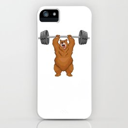Bear weightlifting shirt bodybuilder Gym Powerlfiting iPhone Case