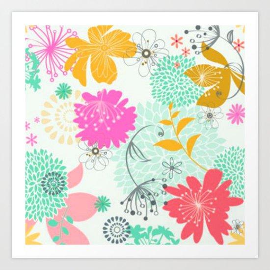 Floral vector pattern best idea Art Print