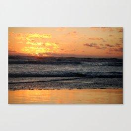 Burning Waves Canvas Print