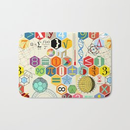 Math in color Bath Mat