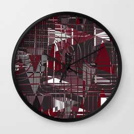 Land of Red Wall Clock