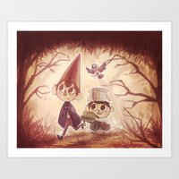 over the garden wall Art Prints featuring Over the Garden Wall by Keikilani