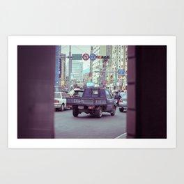 Traffic In Taipei Art Print