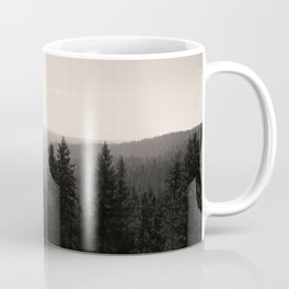 Sepia Tree Lined Valley Photography Print Coffee Mug