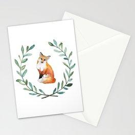 Fox Wreath Stationery Cards
