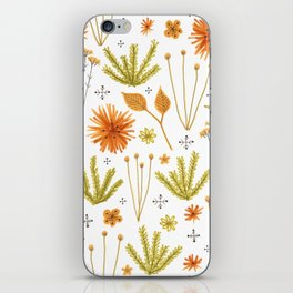 fall floral pattern iPhone Skin