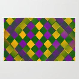 Harlequin Mardi Gras pattern Rug