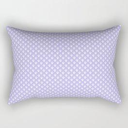 Animal Paw Prints On Lavender Rectangular Pillow