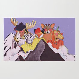 Friends in the mountains Rug
