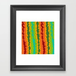 Flame Red Framed Art Print