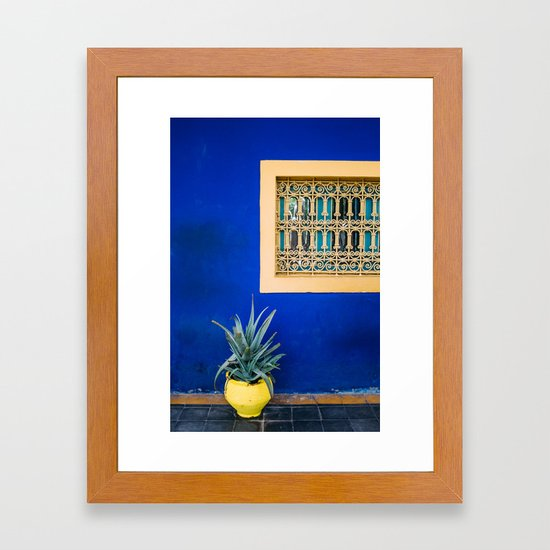 Moroccan Garden In Blue by ppolecho