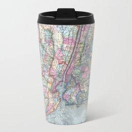 Antique New York City Map Travel Mug