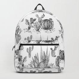 Watercolor cactuses print Backpack