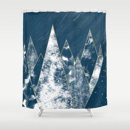 Dark Ocean Mountains Shower Curtain