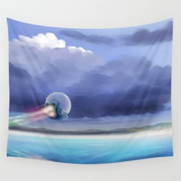 Cruising over the beach Wall Tapestry
