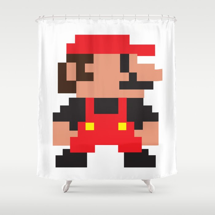 MY 8 BIT SUPER MARIO BROS Shower Curtain
