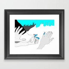 In case you were wondering. Framed Art Print