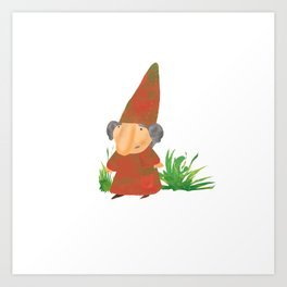 Wilhelmina the Gnome Art Print