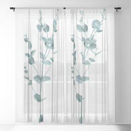 Minimal Eucalyptus Sheer Curtain