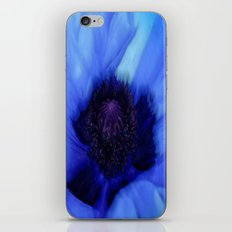 Poppy Blue iPhone & iPod Skin