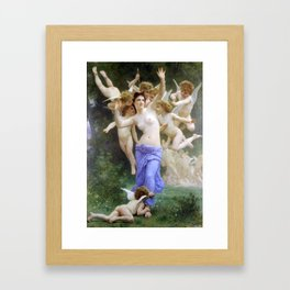 The Invasion (The Wasp's Nest) Le Guêpier by William-Adolphe Bouguereau Framed Art Print