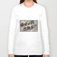 postcard Long Sleeve T-shirts featuring OverCast Postcard by OverCastMC