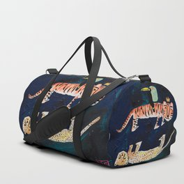 Tiger, Cheetah, Toucan Painting Duffle Bag