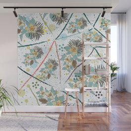 Seamless Pattern with small Flowers Wall Mural