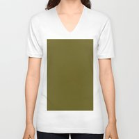 antique V-neck T-shirts featuring Antique bronze by List of colors