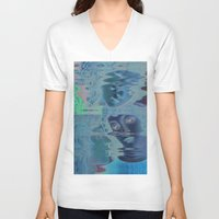 renaissance V-neck T-shirts featuring The Renaissance Glitch by Norms