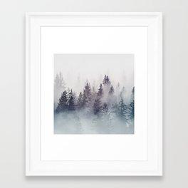 Winter Wonderland - Stormy weather Framed Art Print