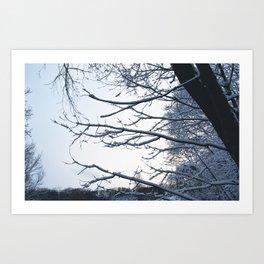 Snowfall at Brickworks on Christmas Day, 2020. LXXXIV Art Print