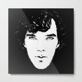 Sherlock B/W Metal Print