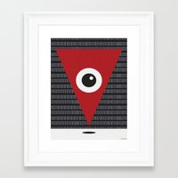 anonymous Framed Art Prints featuring ANONYMOUS by Laertis Art