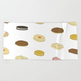 biscui - biscuit pattern Beach Towel