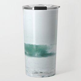 Aqua Wave in Fog Travel Mug