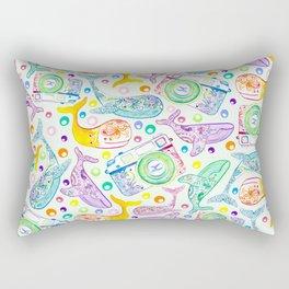 Whale Watching on Green Rectangular Pillow