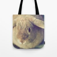 bunny Tote Bags featuring Bunny by Jessica Torres Photography