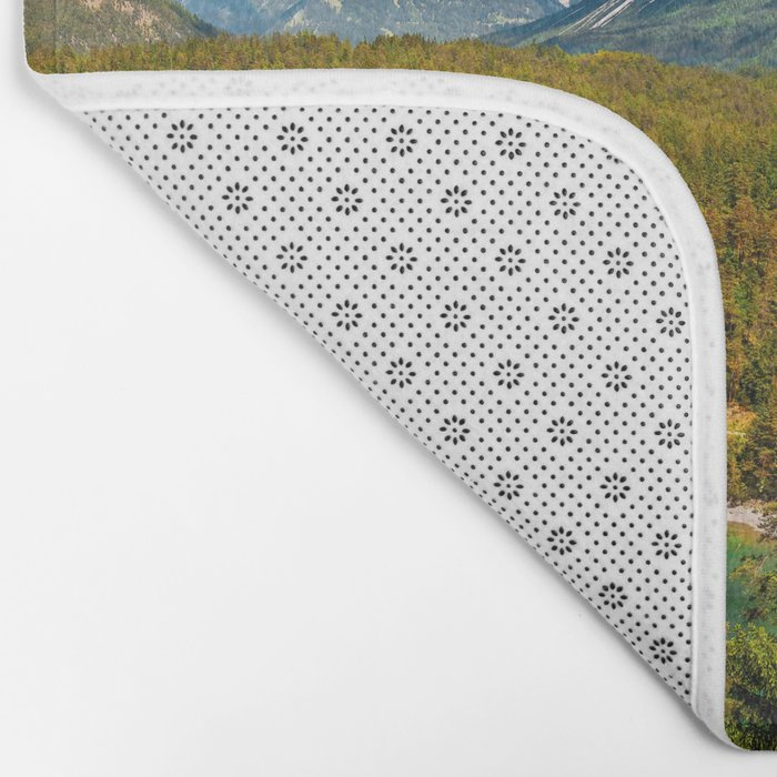 Zugspitze from Tyrol Austria Bath Mat