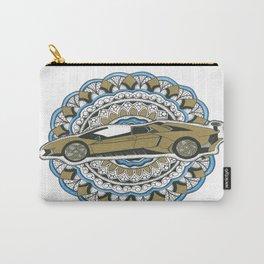 Gold Lamborghini Mandala Carry-All Pouch