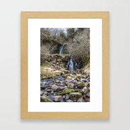 Winter Waterfall  Framed Art Print