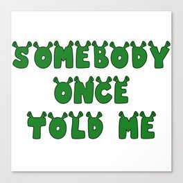 Somebody Once Told Me Canvas Print