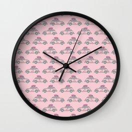 Happy traveler Wall Clock