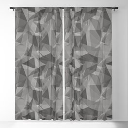 Abstract Geometrical Triangle Patterns 3 Benjamin Moore 2019 Trending Color Cinder Dark Gray AF-705 Blackout Curtain