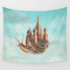 The Snail's Daydream Wall Tapestry