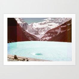infinity pool Art Print