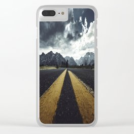 grand teton national park road Clear iPhone Case