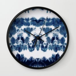 Shibori Not Sorry Wall Clock